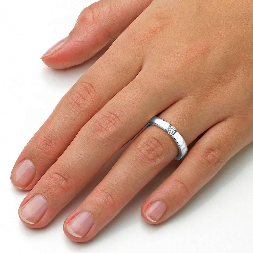 Verlobungsring Infinity Weißgold