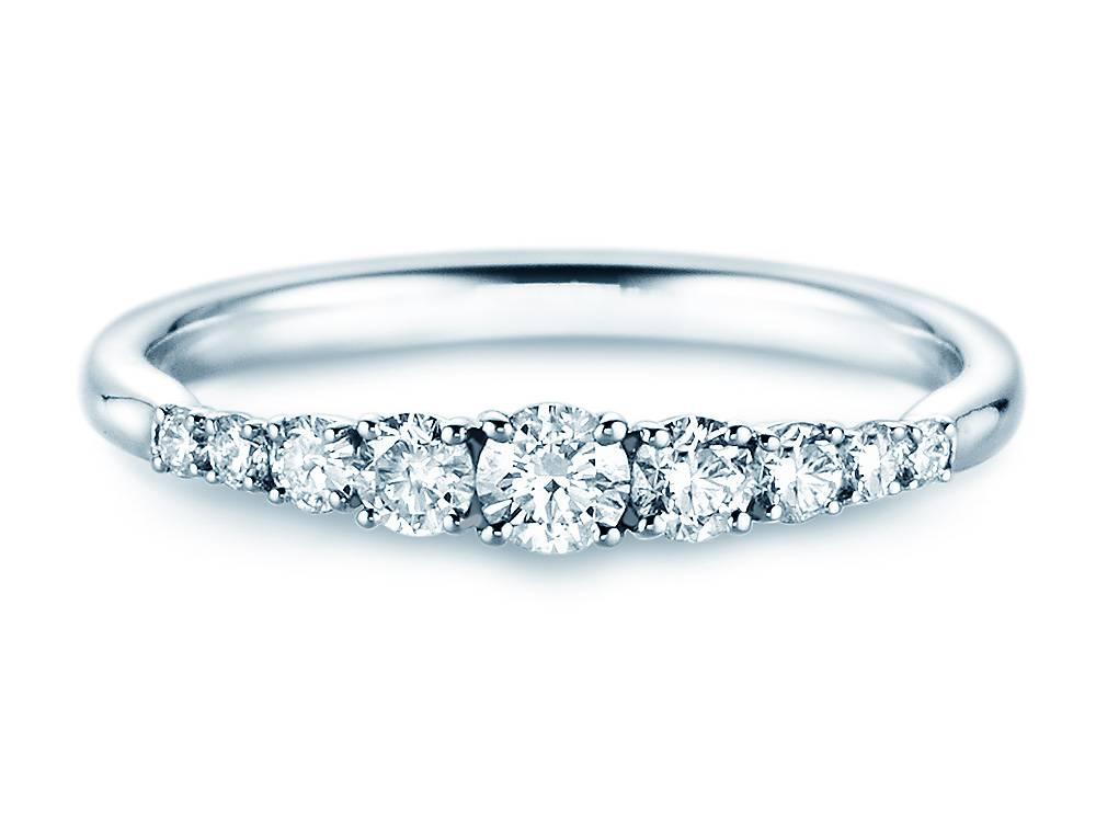 Verlobungsring Nine Diamonds Platin