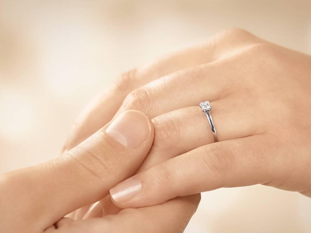 Verlobungsring Princess Platin