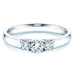 Verlobungsring 3 Stones Weißgold