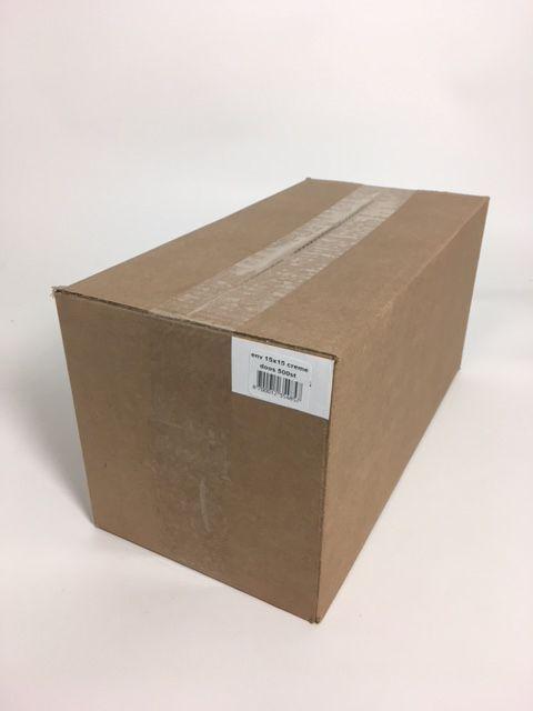 Envelop vierkante crème 15 * 15 cm