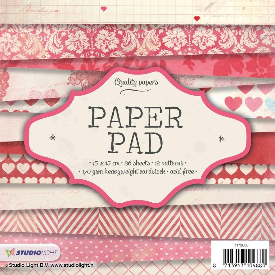 Studiolight Paper Pad 15 x 15 cm, 36 vel, 12 patronen nr.80