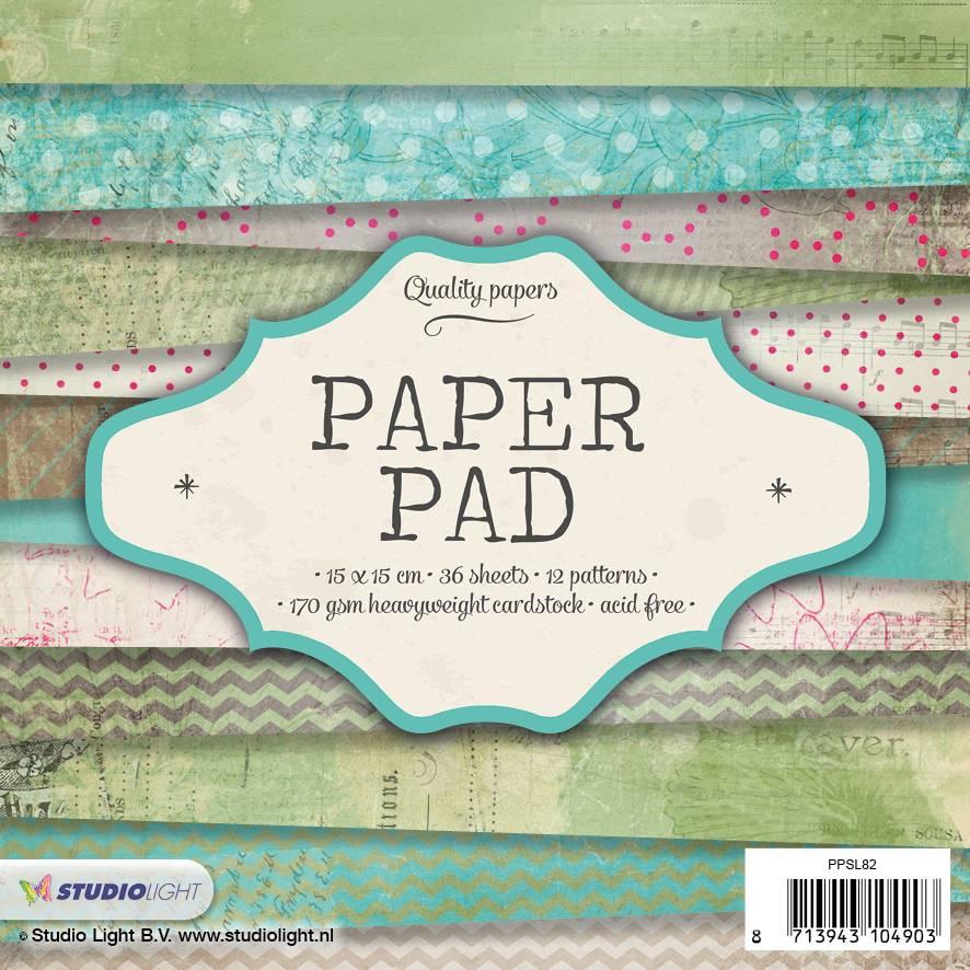 Studiolight Paper Pad 15 x 15 cm, 36 vel, 12 patronen nr.82