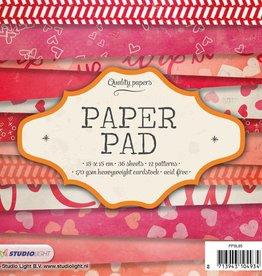 Studiolight Paper Pad 15 x 15 cm, 36 feuilles, 12 motifs nr.85