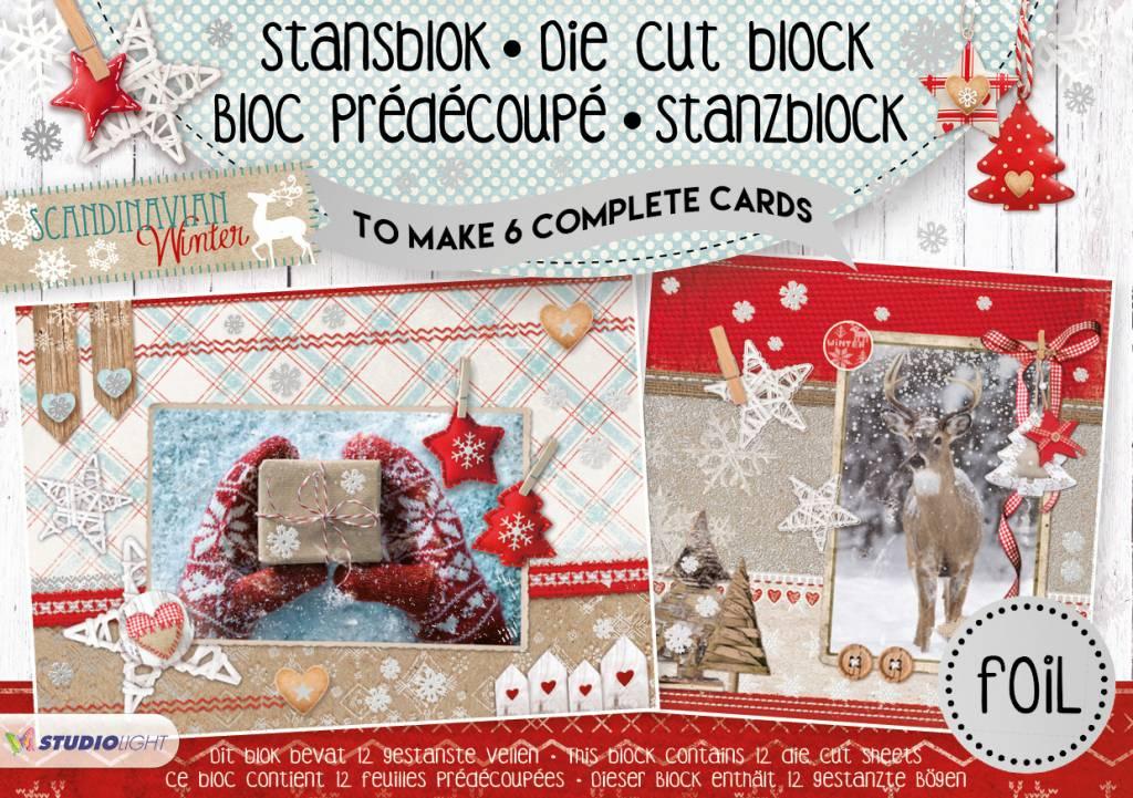 Studiolight Stansblok A5 Die Cut Folie, Scandinavian Winter nr.13