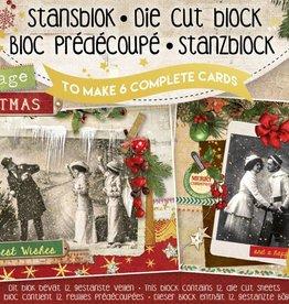 Studiolight Stansblok A5 Die Cut Folie, Vintage Christmas nr.14