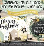 Studiolight Stansblok A5 Die Cut Folie, Bright Christmas nr.15