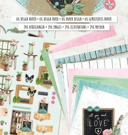 Studiolight Paperblock A4, content 16 sheets die cut, Love & Home nr.01