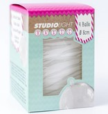 Studiolight WHITE BALLS 10 CM WITH HOLE FOR LED LIGHT