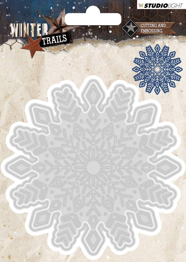 Studiolight Cutting and Embossing Die 100 x 100 mm, Winter Trails, nr.103