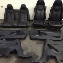 Zwart leren stoelen set peugeot 308 cc