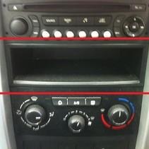 bakje onder de radio peugeot 207