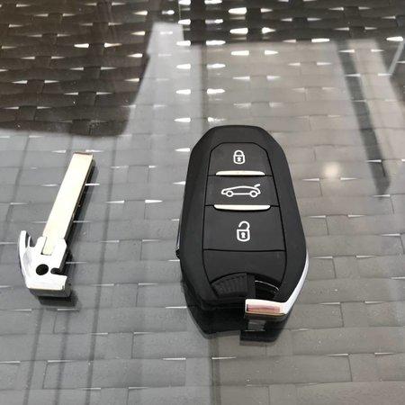 NIEUW keyless go key peugeot key met chip