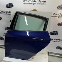 Links achter-portier peugeot 208 kleur blauw  KUC