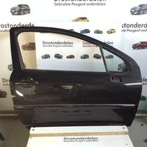 Door 2 doors right Peugeot 207 color code EXL black