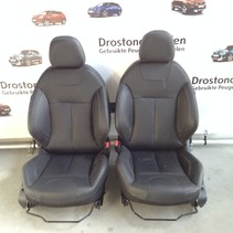 Set leather chair Peugeot 2008 black leather with heated seats