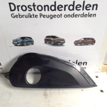 Afdekplaat  9810738177  mistlamp rechts -voor in bumper  van een Peugeot 208