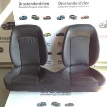 Back seat Black leather Peugeot 206cc convertible