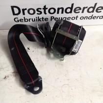 Veiligheidsgordel Links-Achter 98063162XJ Peugeot 208 GT-Line Rode Stiksels