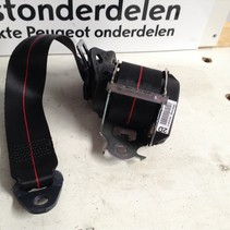 Seatbelt Right-Rear 98063163XJ Peugeot 208 GT-Line Red Stitching