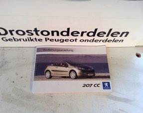 Instruction booklet Peugeot 207CC