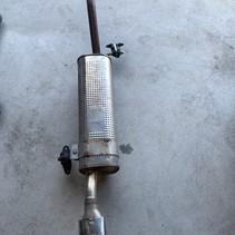 Exhaust muffler pot with decorative piece 9818337180 Psa 4385Y peugeot 208 Gt line 110 hp