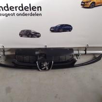 Grille Front Bumper Peugeot 206CC Cabriolet Black (Color code EXL)
