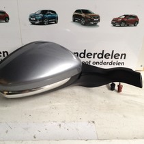 Outside Mirror Right Foldable Peugeot 2008 Ice blue KCA
