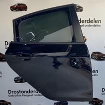 Door 4-door rear right of a Peugeot 208 color code (KTV) black 9671907480
