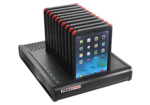Parotec-IT charge & sync i10 Parasync desktop docking station voor 10 iPads 9.7""