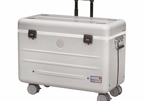 "Parat charge i10-KC trolley case for 10 tablets 9""-11"" with kidscover without storage slot dividers silver grey"