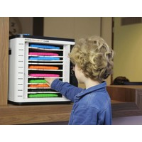 thumb-U-10, Cube for 10 iPads, and tablet number lock, worksheet brackets, removable drawers-2