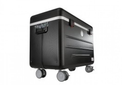 "Parat charge i10 koffertrolley voor 10 tablets 9-11"" met vakindeling zwart"