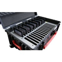 """thumb-iNsync C14; robuuste koffer voor 30 iPad Air en 10""""-11"""" tablets, koffer/kar op wieltjes met slot voor opbergen, opladen, synchroniseren & transport-8"""