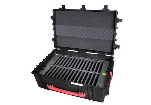 """Parotec-IT charge & sync C16 koffer voor 30 iPad mini en 8"""" tablets zonder en met dunne beschermhoes"""