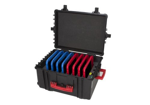 "Parotec-IT charge & sync C61 case for 8 iPads and 9""-11"" tablets without and with protective cover"