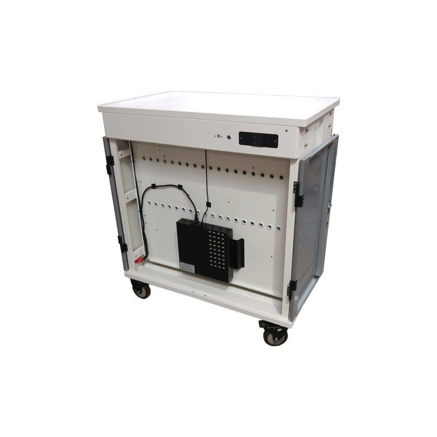 iPad mobile chargingstation; charging of 36 ipads, Tablets, chromebooks. lockable steel cabinet on wheels 36 devices via one electrical outlet charging-5