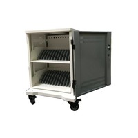 thumb-iPad mobile charging station; charging 24 iPads, Tablets, Chromebooks. Lockable steel cabinet on wheels 24 devices can be charged via a single socket-2