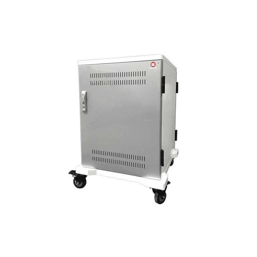 iPad mobile charging station; charging 24 iPads, Tablets, Chromebooks. Lockable steel cabinet on wheels 24 devices can be charged via a single socket-1
