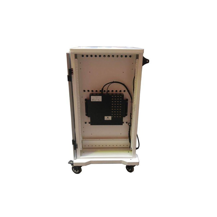 iPad mobile charging station; charging 24 iPads, Tablets, Chromebooks. Lockable steel cabinet on wheels 24 devices can be charged via a single socket-7