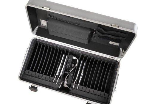 Parat charge i20 koffertrolley voor tablets met 20 vakken zilvergrijs