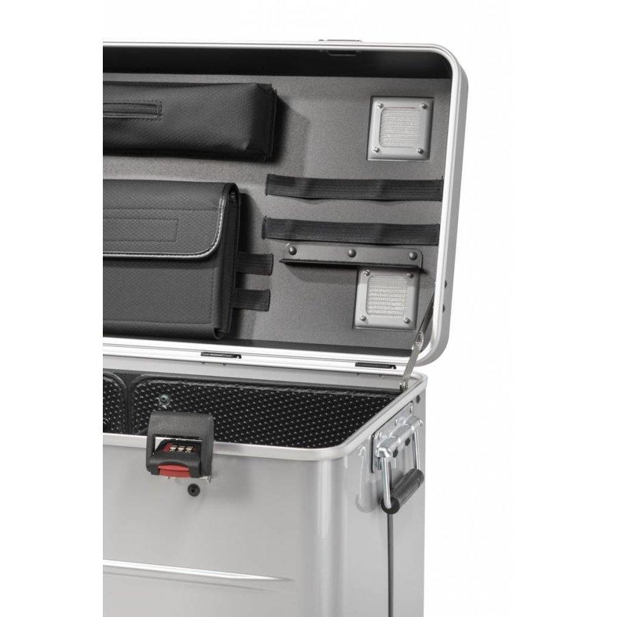 i20; mobiel oplaadstation voor 20 iPad, met compartiment indeling zilverkleur-6