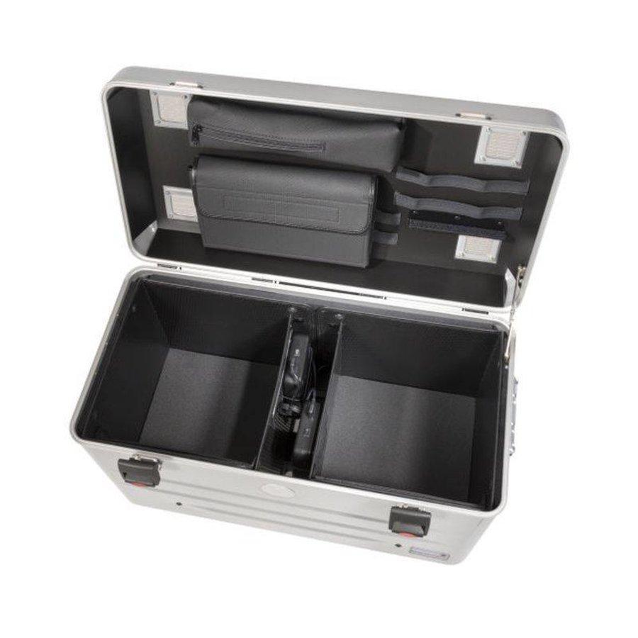 Mobiel oplaadstation voor maximaal 20 iPads of tablets, i20 trolley koffer, zonder compartimenten zilver-4