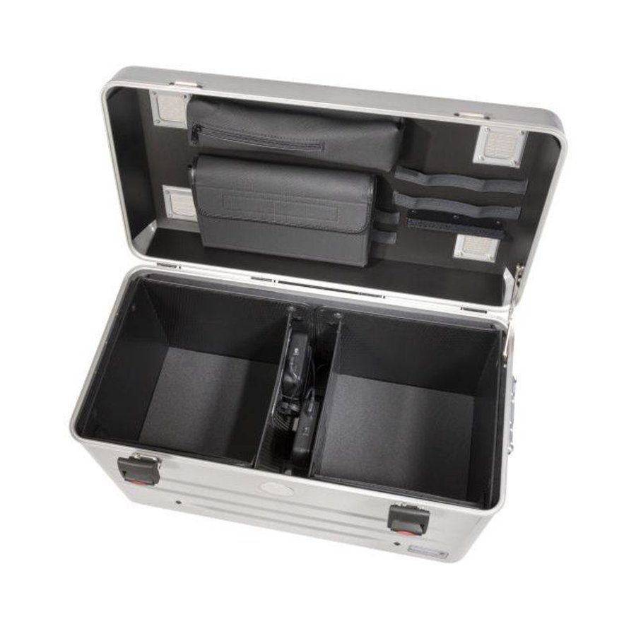 Mobile chargingstation for maximum 20 iPads or tablets, i20 trolley case, without compartments silver-4