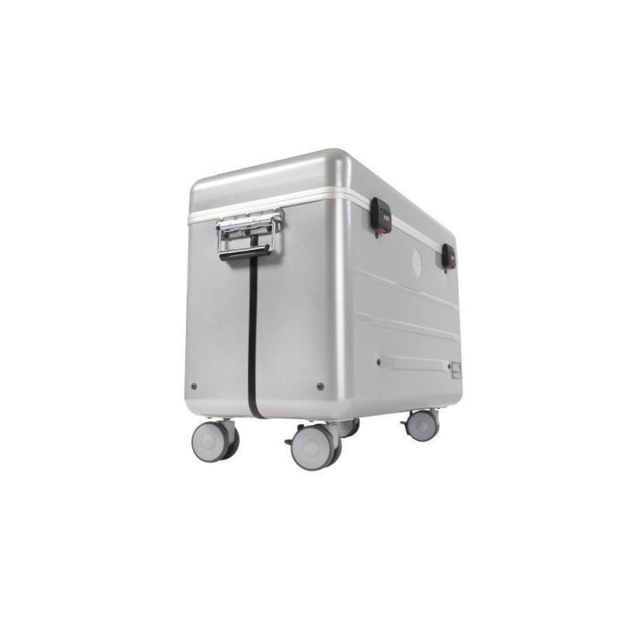 Mobile chargingstation for maximum 20 iPads or tablets, i20 trolley case, without compartments silver-6