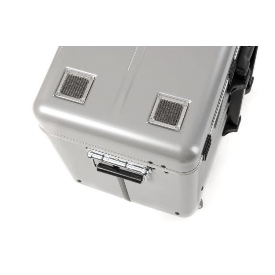 Mobile chargingstation for maximum 20 iPads or tablets, i20 trolley case, without compartments silver-9