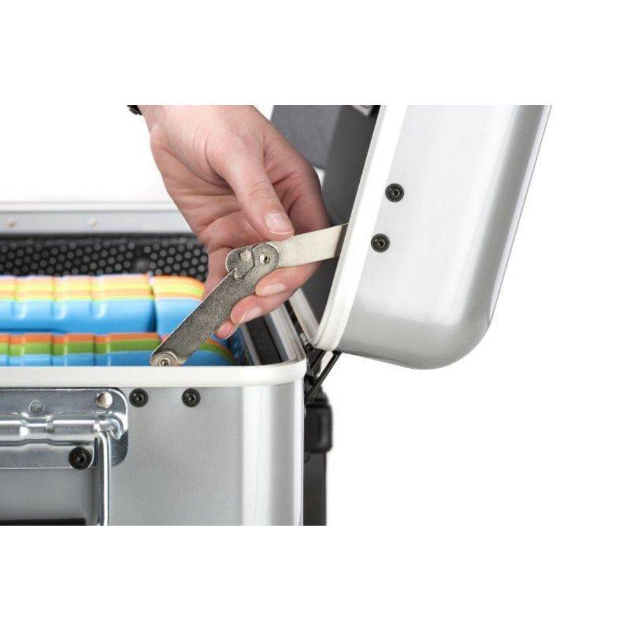 Mobiel oplaadstation voor maximaal 20 iPads of tablets, i20 trolley koffer, zonder compartimenten zilver-10