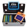 charge & sync i16KC koffertrolley voor 16 iPads met kidscover inclusief lightning kabels zonder vakindeling zilvergrijs