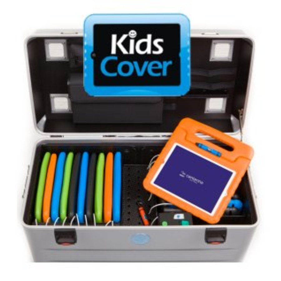 Charge & Sync koffer inclusief kabels voor iPads en tablets, i16-KC-1