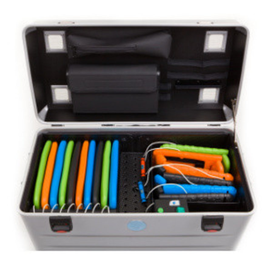 Charge & Sync koffer inclusief kabels voor iPads en tablets, i16-KC-4
